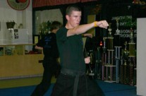 Sandoval Karate Black Belt Student Training