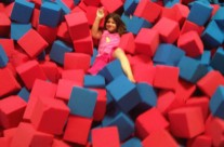 Young Girl Lost in a Sea of Foam