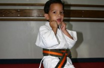 Under Belt Student Practicing Martial Arts