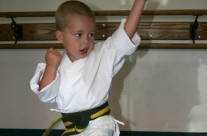 Young Under Belt Student Practicing Karate