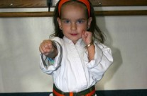 Young Girl Practicing Self Defense Moves