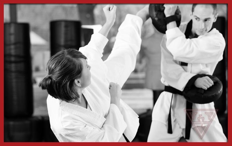 Black Belt Students Practicing Taekwondo