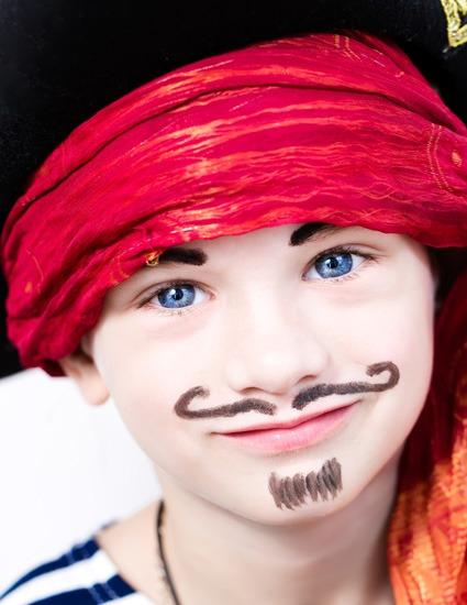 Boy Dressed as Pirate