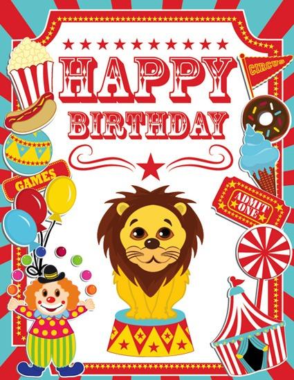Circus Birthday Flyer