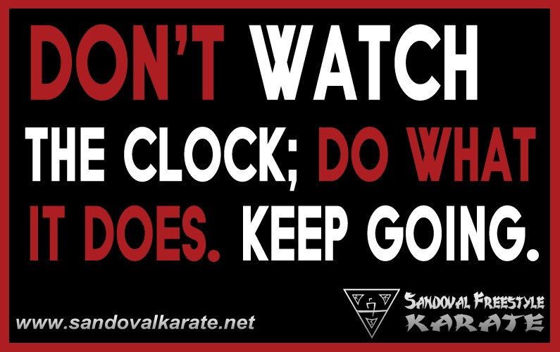 Don't Watch the Clock Quote