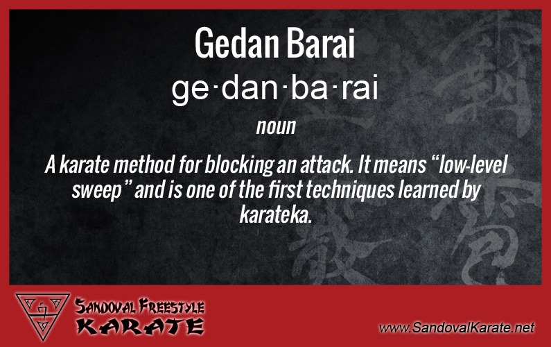 Gedan Barai Definition