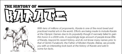 History of Karate Infographic