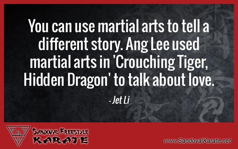 Jet Li Martial Arts Quote