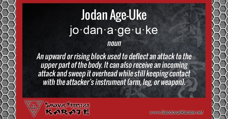 Jodan Age Uke Definition