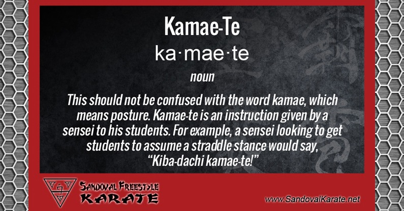 Kamae-Te Definition