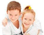 Karate Kid Hugging Friend