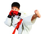 Karate Student with Self-Control