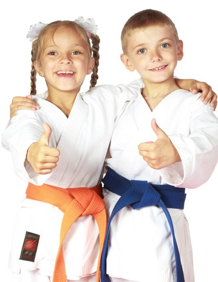 Kids at Karate Birthday Party