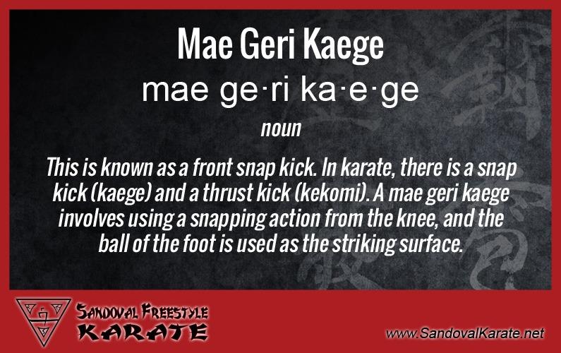 Mae Geri Kaege