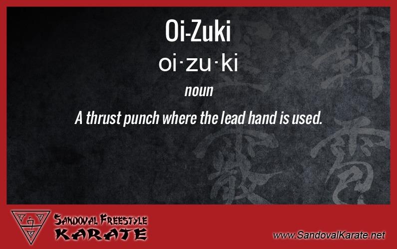 Oi-Zuki Definition