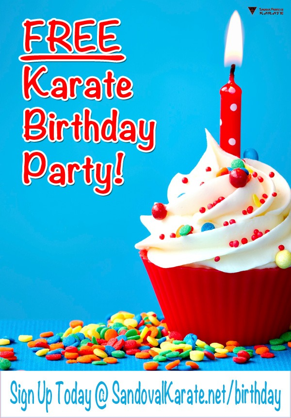 FREE Karate Birthday Party - Sandoval Freestyle Karate Gilbert
