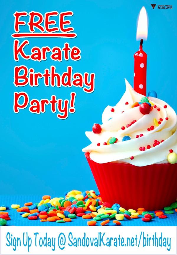 FREE Karate Birthday Party - Sandoval Freestyle Karate Gilbert